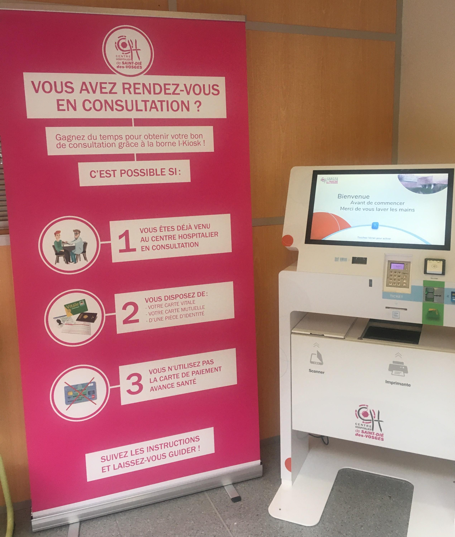 Une borne interactive pour simplifier les admissions au Centre Hospitalier